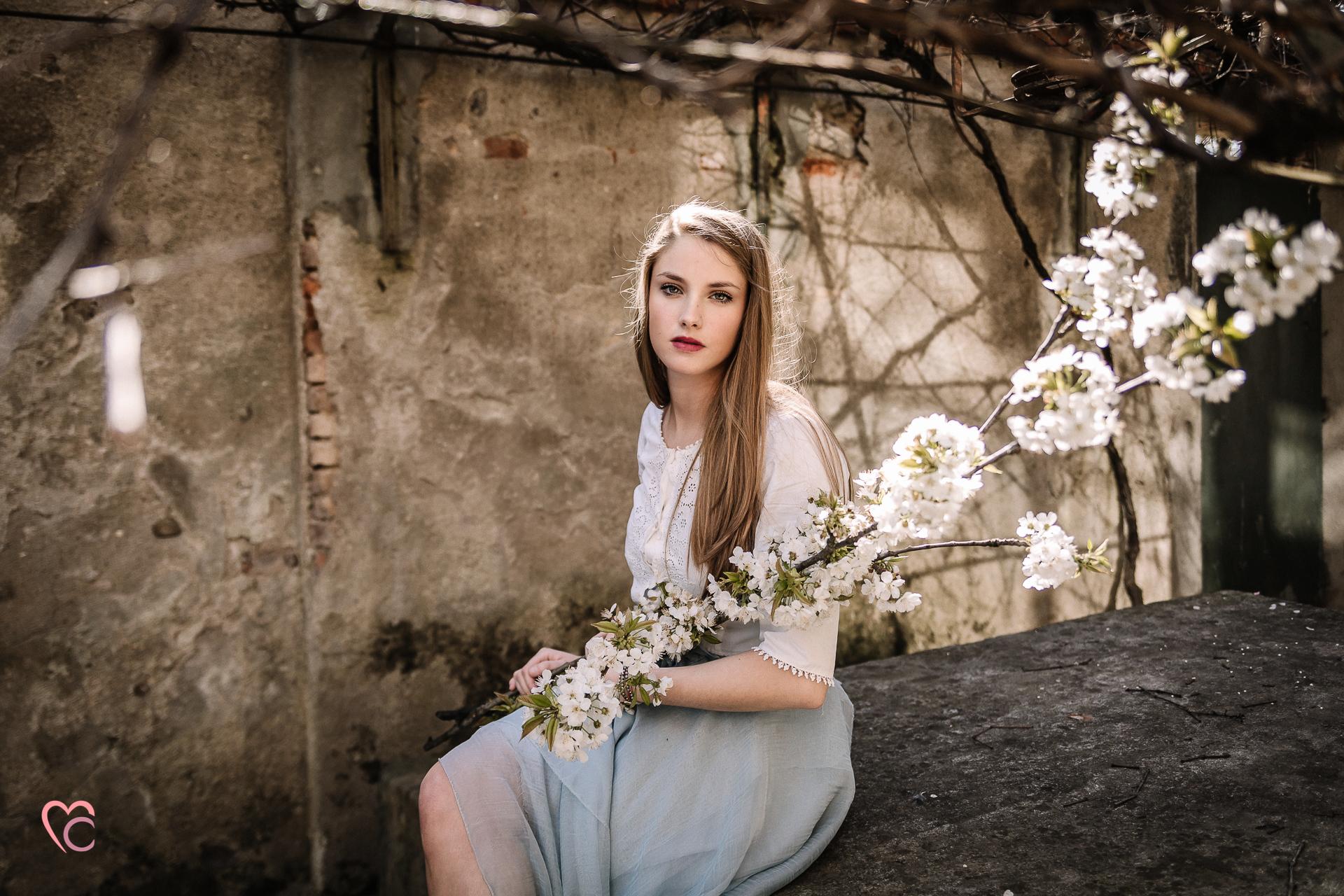 sposa eterea, cherry blossom inspirations, Mulino della torre,Riva presso Chieri