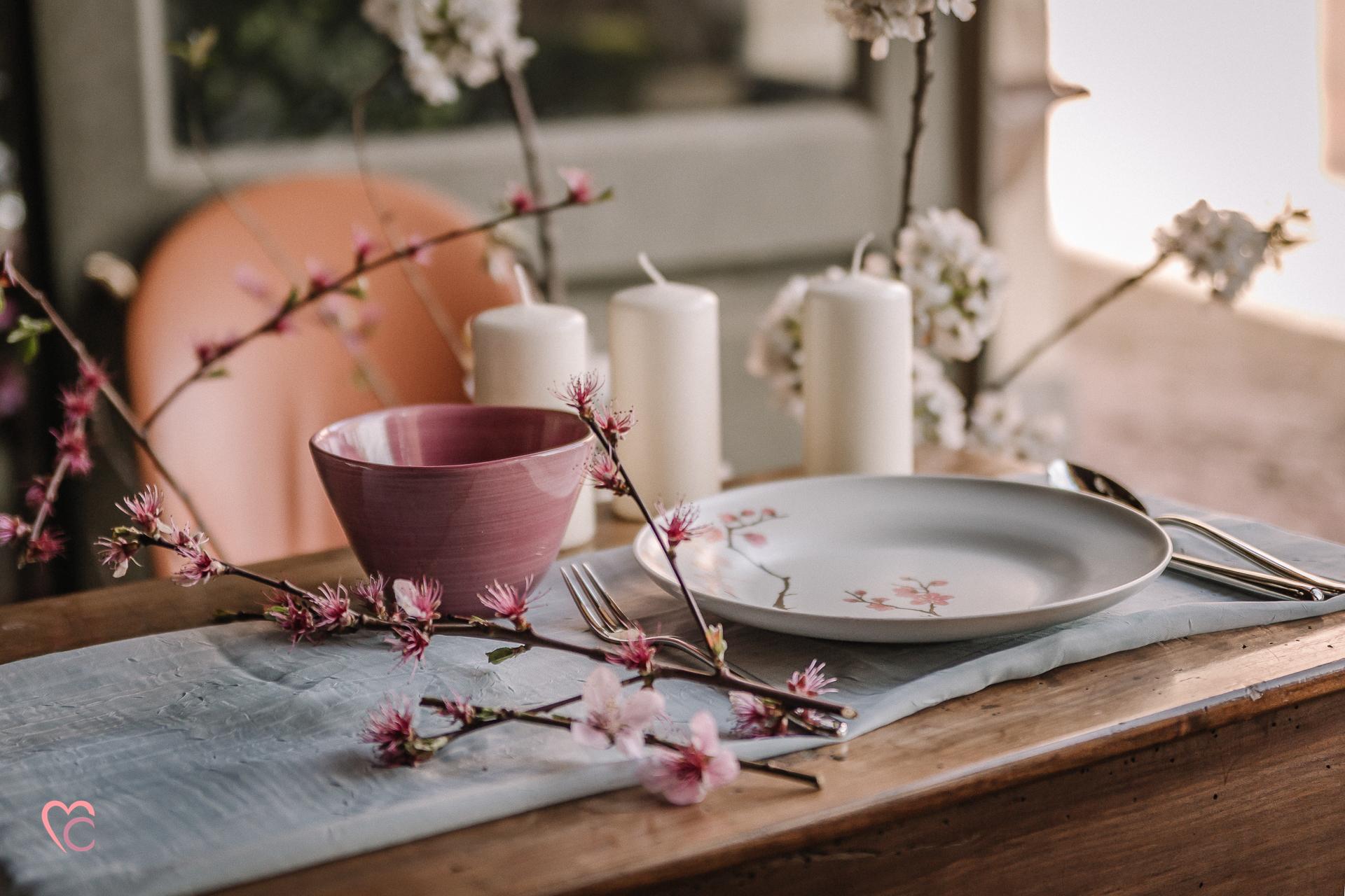 cherry blossom inspirations,hanami, ispirazione giappone,posto tavola