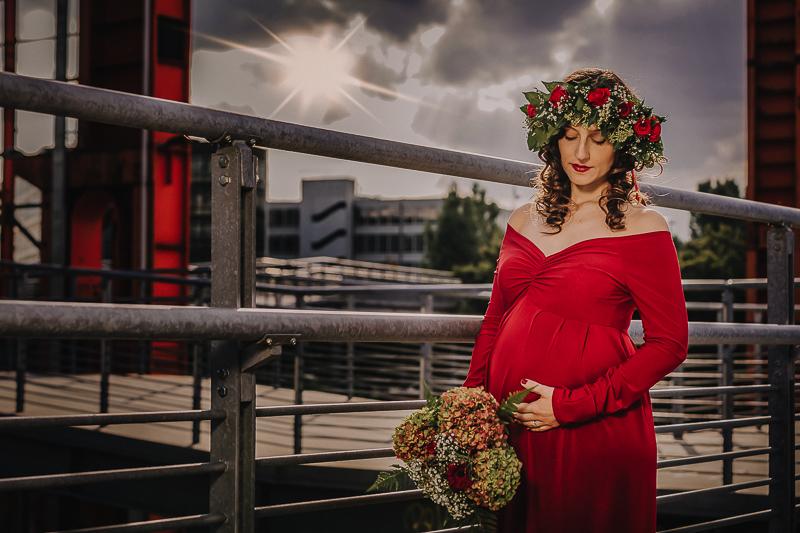 Servizio fotografico di gravidanza, Parco Dora,Torino