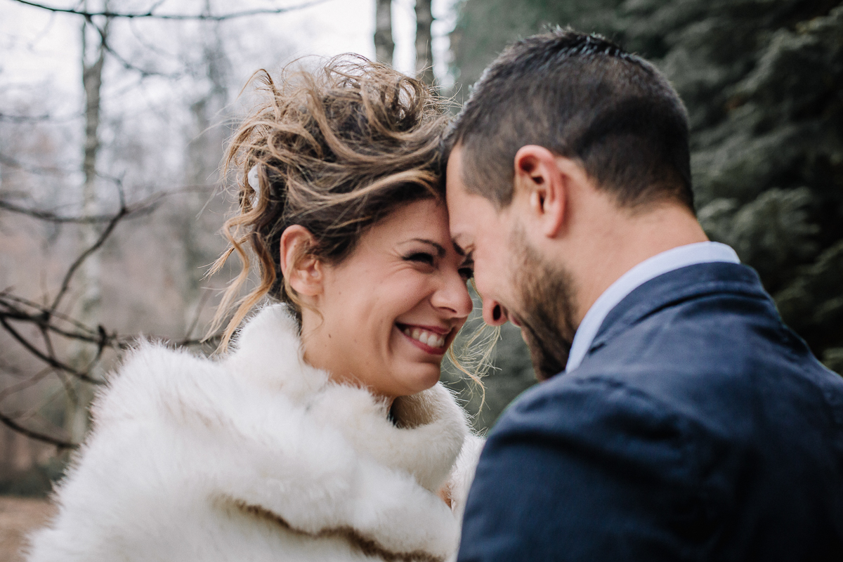Winter elopement, sulla collina torinese,Superga,Carolina e Gabriele