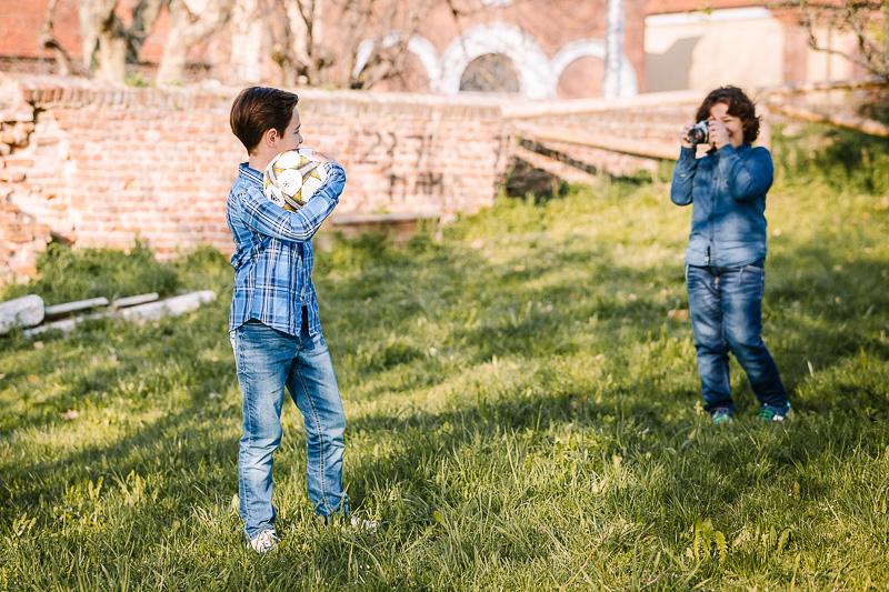 Fotografia di famiglia, ritratto di bambini a Chieri