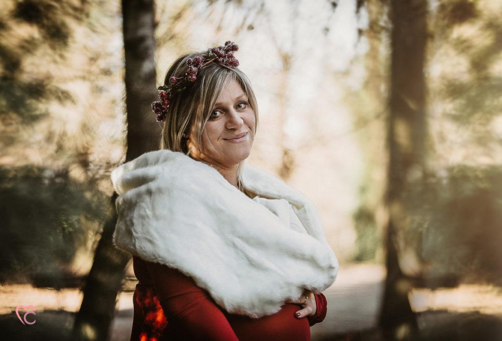 Fotografo gravidanza Torino,servizio fotografico di gravidanza Sessione fotografica sulla Collina di Superga, inverno,