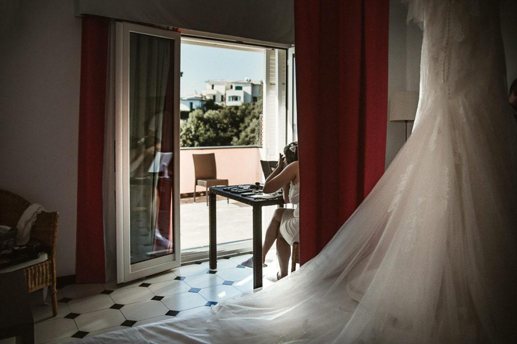 Fotografo matrimonio Torino, matrimonio in Liguria, ad Arenzano, preparazione della sposa