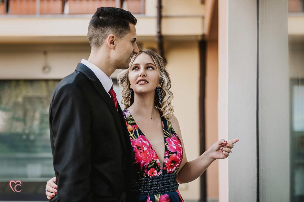 Prewedding a Chieri, nel centro storico di Erica e Daniele