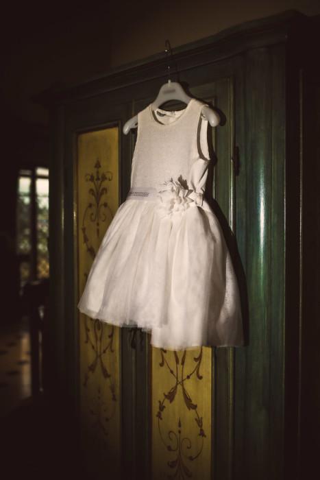 Matrimonio a Piobesi Torinese, preparazione sposa a Vinovo, abito della bambina