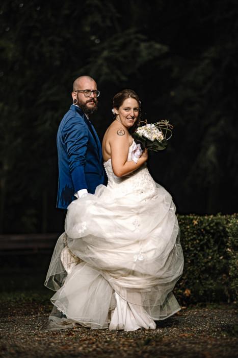 matrimonio a Piobesi Torinese, chiesa della Natività di Maria Vergine, servizio di coppia, off camera flash