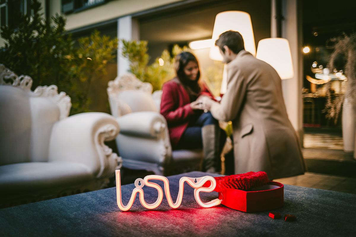 Proposta di matrimonio a tema san Valentino all'Atelier Bonetto di Chieri
